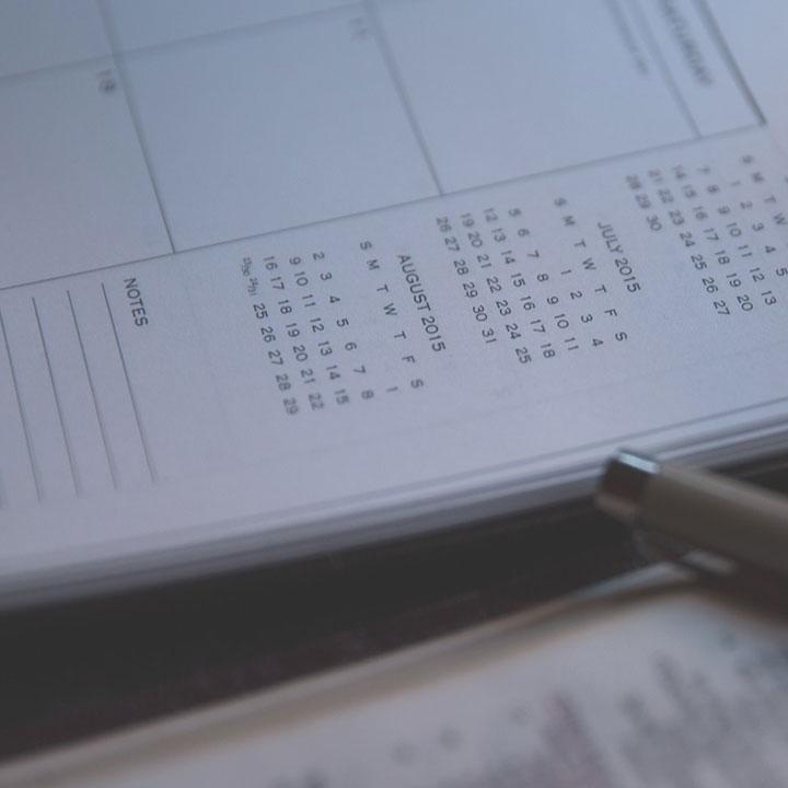 自分のスケジュールをリスト化しよう!